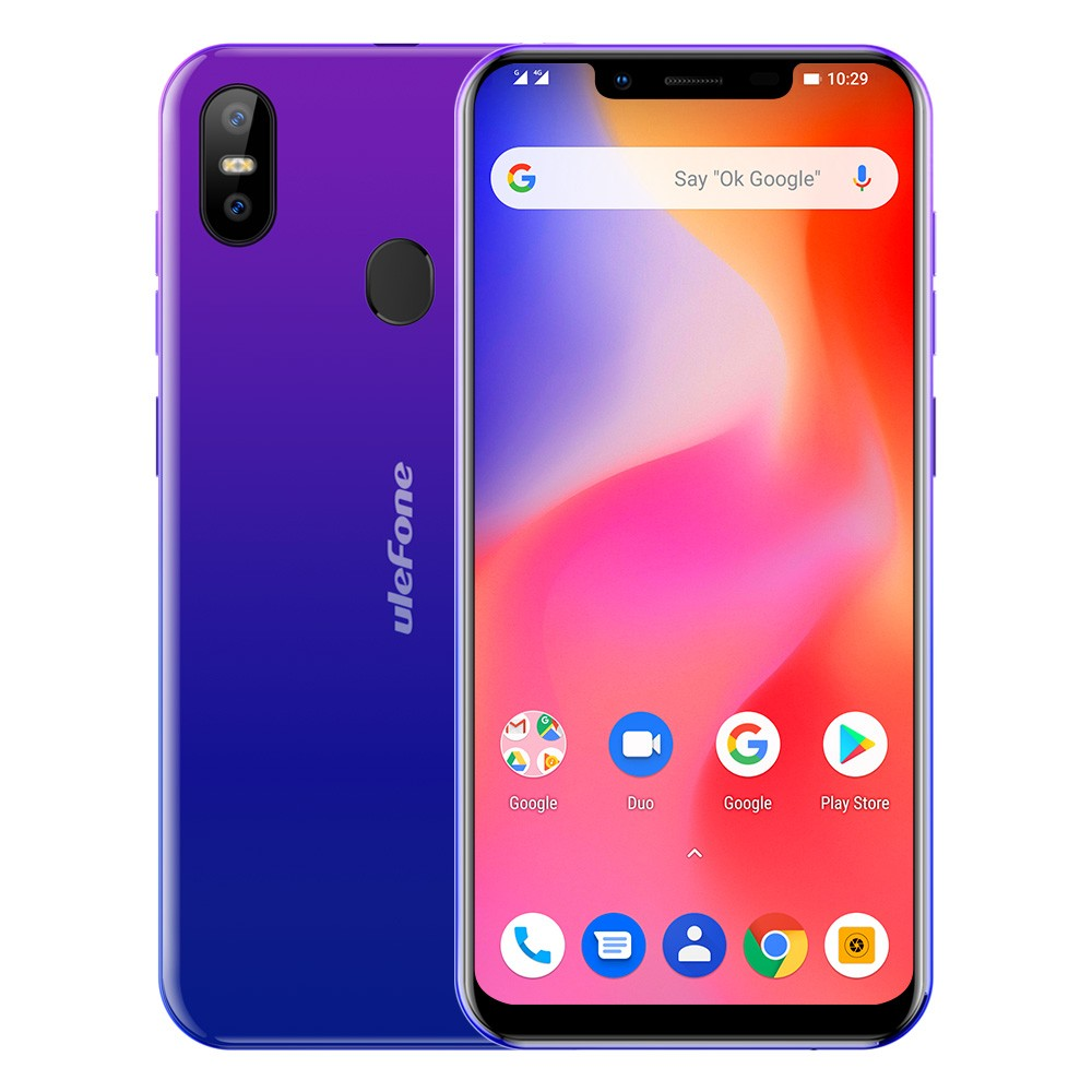 Ulefone S10 Pro Android 8.1 5.7 Inch 19:9 MT6739 Quad Core Mobile Phone 2GB RAM 16GB ROM 13MP+5MP Face Unlock 4G Smartphone