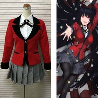 New Anime Kakegurui Compulsive Gambler Jabami yumeko Cosplay Costume Tailor Made