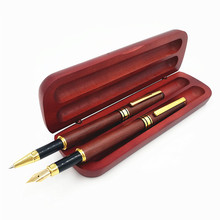Redwood Pen Set Signature Two Wooden with Box for Colleagues Students