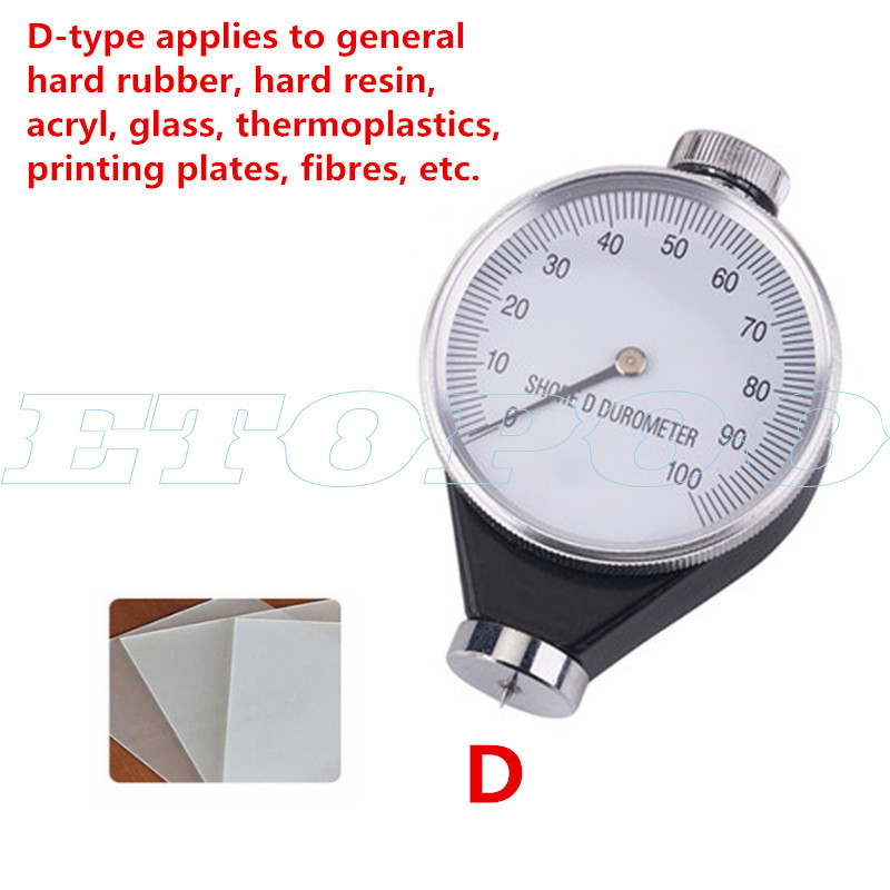 Walfront Hardness Tester Meter,Shore Type A//O//D Rubber Tire Durometer Hardness Tester Meter 0-100 HA Type A