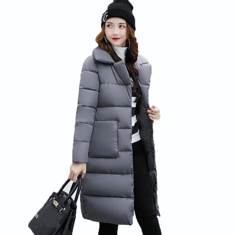 Winter Coats 2017 New Women Long Parkas Jacket Coat Female Thick Warm Coat Ladies Outwear Parka Winter Cotton Coats RE0009 2017 new coats