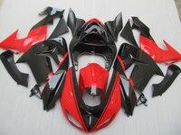 Покрашенные комплект обтекателей для Kawasaki ZX10R 2006 2007 Черный Красный NINJA ZX 10R 06 07 антиблокировочная система, мотоциклетные обтекатели комплект