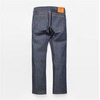 CONES MILLS Raw Indigo Selvage Unwashed Denim Pants Sanforised Preshrink Raw Denim Straight Fit Jean 14oz