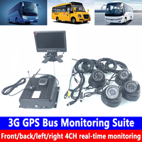 Hard disk SD card host monitoring Remote PTZ management 3G GPS bus monitoring kit Heavy machinery / school bus / fire truck