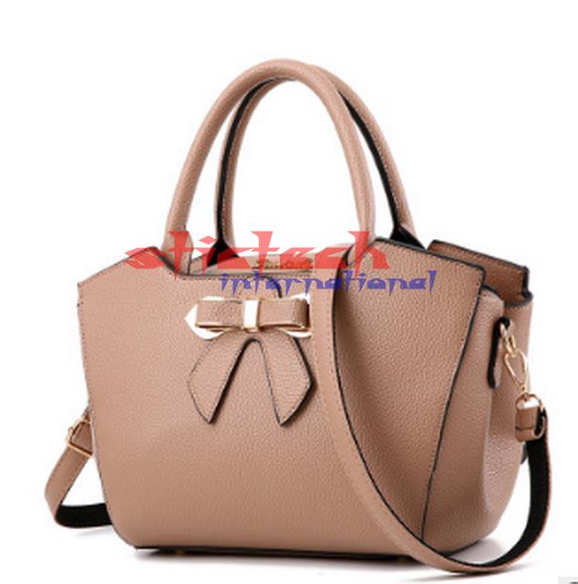 by dhl or ems 10pcs  New Women's Handbag PU leather Shoulder Messenger Bag Bowknot Women's Bag Fashion Simple