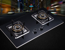 Free shipping gas stove gas liquefied gas stove double furnace energy-saving gas cooktop