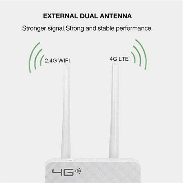 TIANJIE CPE903 4G LTE CPE Router wi-fi odblokować 4G 3G mobilny punkt aktywny WAN/LAN Port podwójny anteny zewnętrzne brama z gniazdo karty Sim