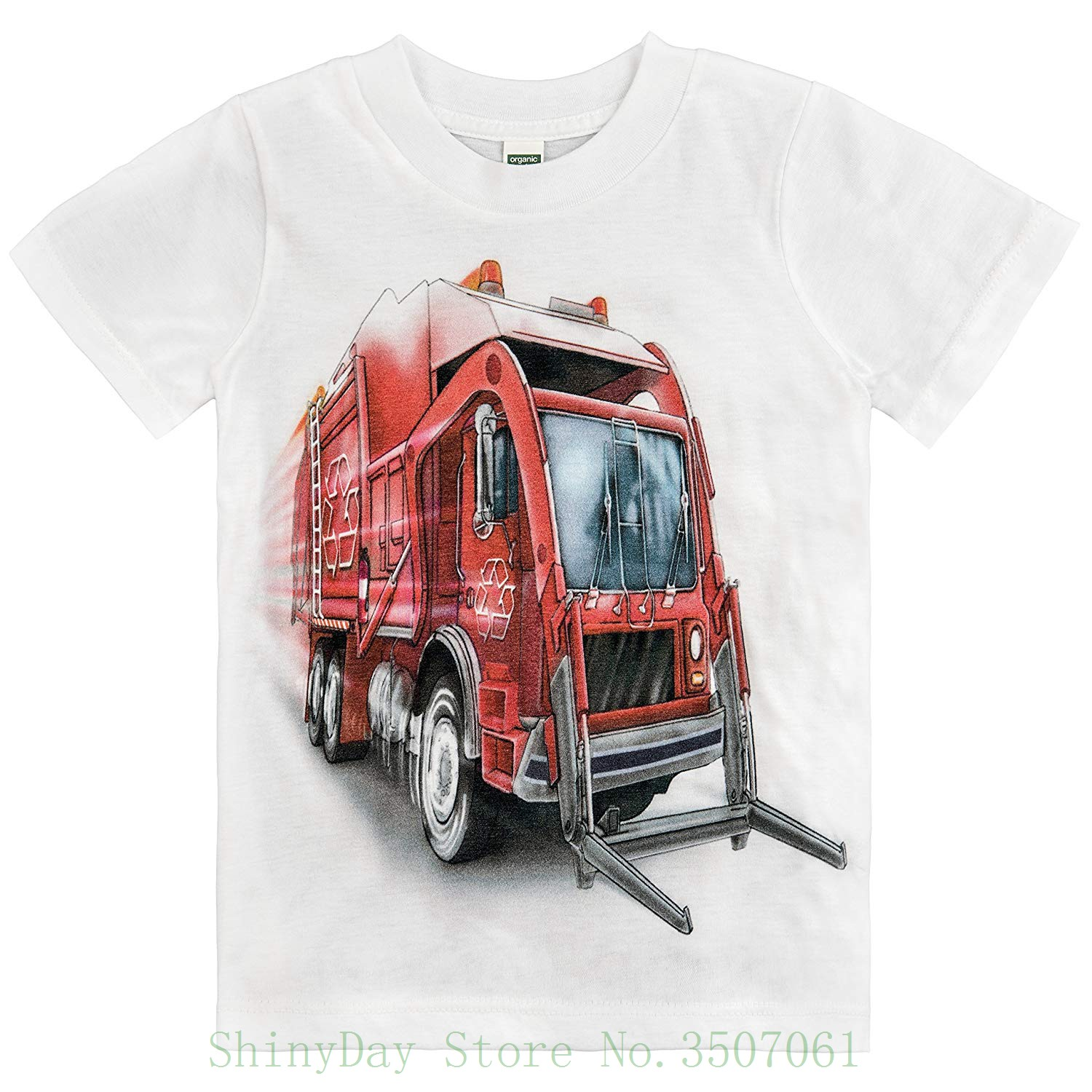 Big Red Store >> Us 12 91 7 Off Little Boys Big Red Garbage Truck T Shirt High Quality Custom Printed Tops Hipster Tees T Shirt In T Shirts From Men S Clothing On