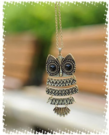 product $10 (mix order) Free Shipping 2016 New Fashion Korea Adorn Article Owl Necklace Ancient Owl Sweater Chain 24g N46