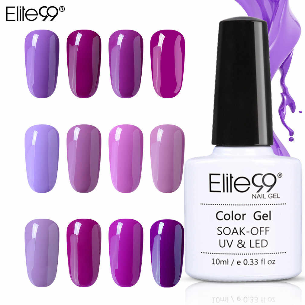 Elite99 10ml esmalte de uñas de Gel uv púrpura uñas Gel pulido Vernis Semi permanente Gel uñas barnices DIY Gel para decoración de uñas laca