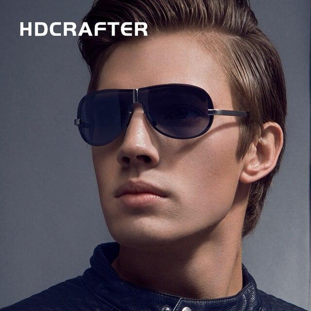 HDCRAFTER Brand Rimless Fashion Cool Sunglasses Polarized  100% UV400  protection  Oculos de sol masculino Eyewear