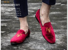 New Arrival gold thread embroidery male shoes fashion trend of the royal wind dawdler foot wrapping shoes