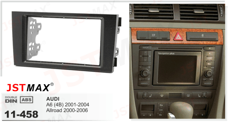 Jstmax 2 din car dvd cd radio fascia panel face plate for for Mueble 2 din audi a3 8l