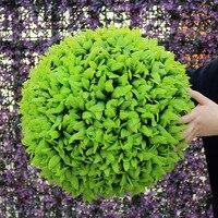 ULAND Dekoracyjne Sztuczna Trawa Liść Efekt Wiszące Zielona Trawa Całuje Piłkę Topiary Piłkę Z Tworzywa Sztucznego Piłka Kryty Dekoracji