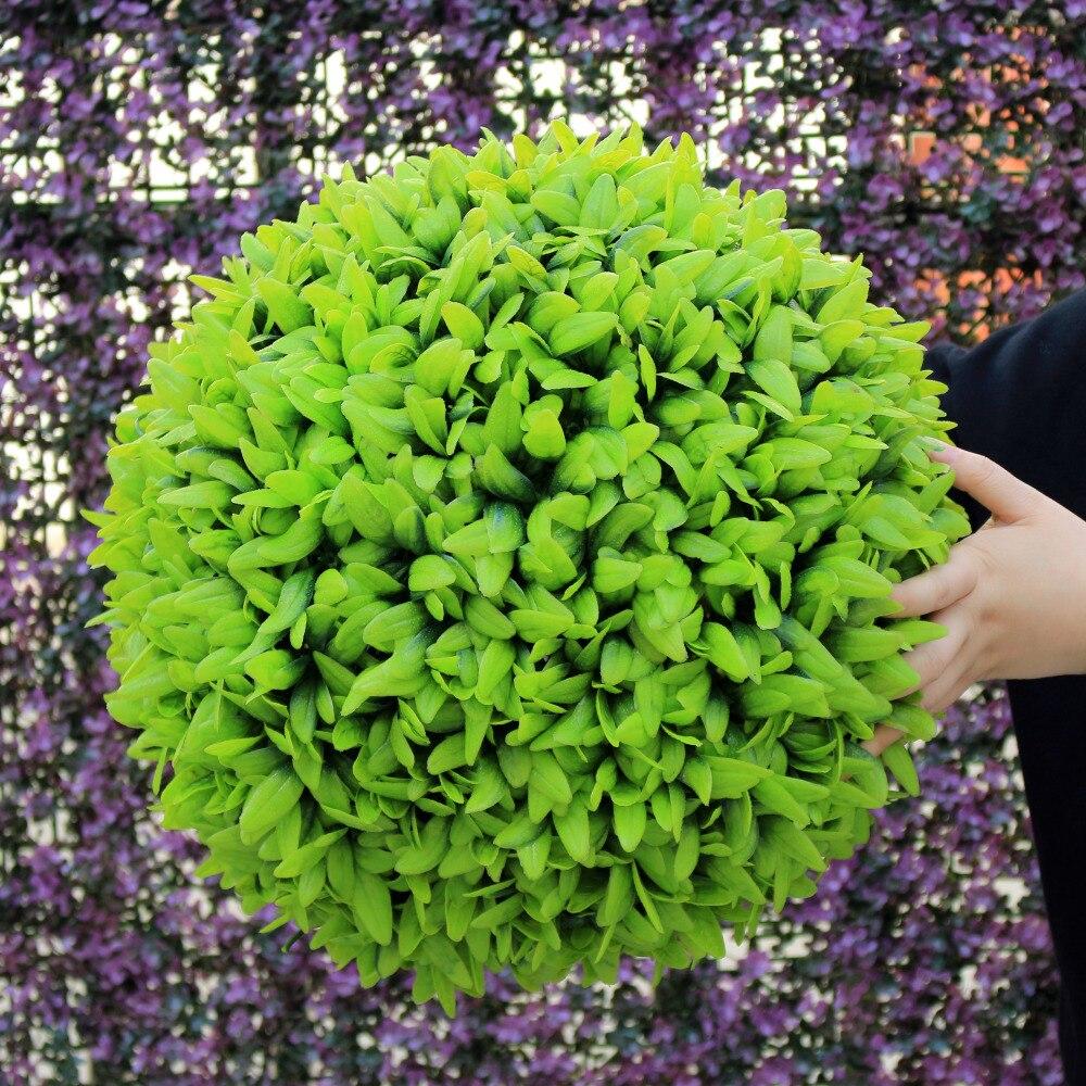 ULAND décoratif boule d'herbe artificielle en plastique feuille effet suspendus herbe verte embrasser balle boule topiaire intérieur décoration de la maison