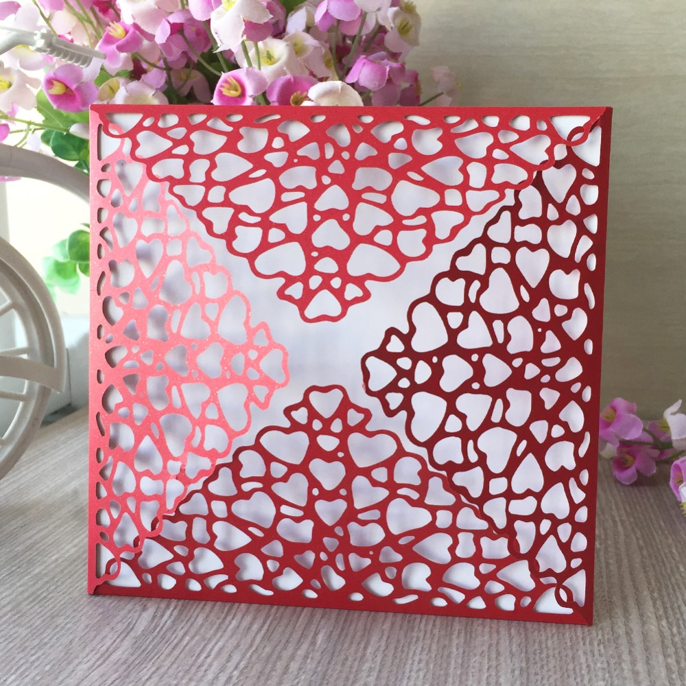 100pcslot New Arrival Laser Cut Pearl Paper Wedding Card Birthday Party Invitations Event Party Supplies Blessing Card