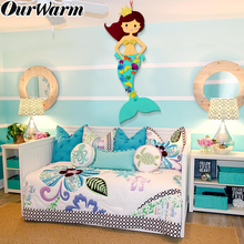 OurWarm Mermaid Wall Decoration Little Party Supplies Boy Girl Birthday Gifts DIY Game Banner Home Decor