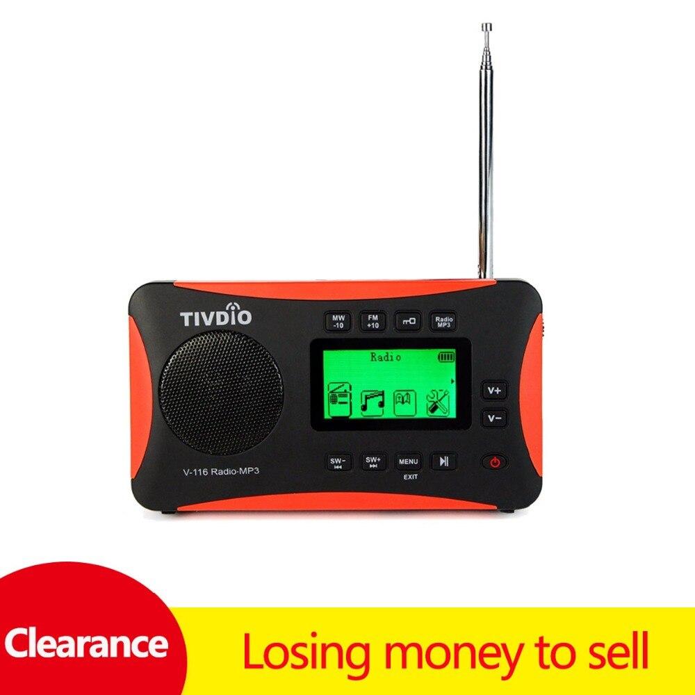 Gut Ausgebildete Tivdio V-116 Tragbare Kurzwelligen Transistor Radio Mit Am Fm Unterstützung Micro-sd-karte Aux Mp3 Player Lautsprecher Alarm Uhr Schlaf Timer Ein Unbestimmt Neues Erscheinungsbild GewäHrleisten Radio Tragbares Audio & Video