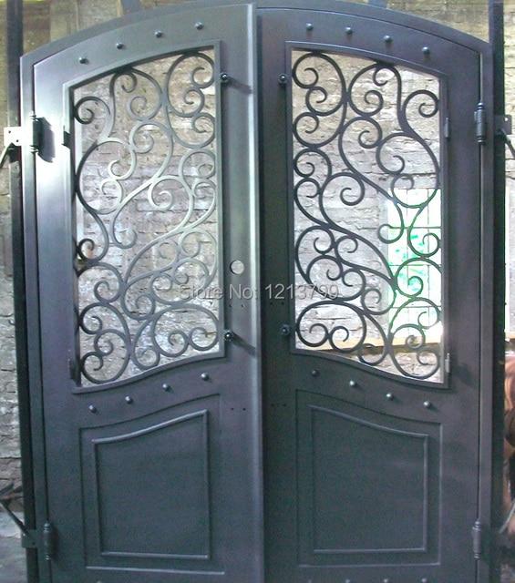 Hierro forjado puerta de entrada hierro forjado puerta - Puertas de hierro para exterior ...