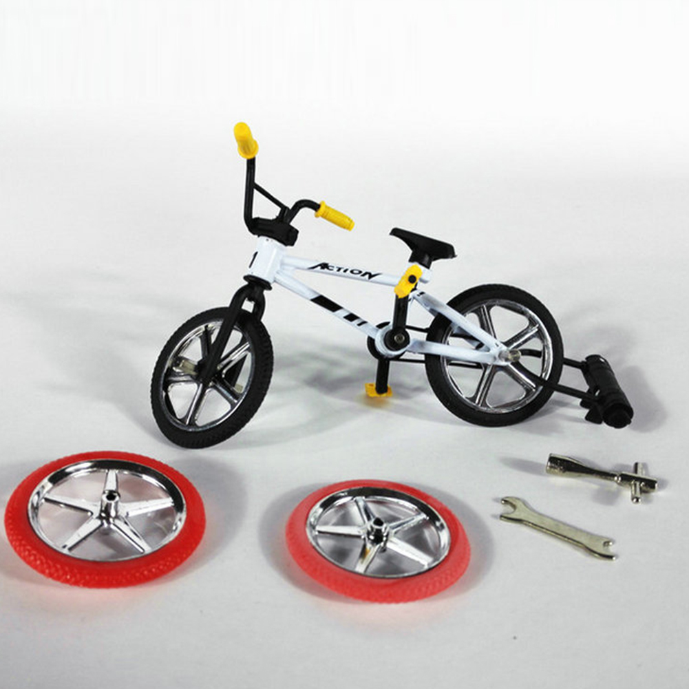 New Children Mini Bicycle Toy Alloy Finger Functional Kids Bicycle Finger Bike Mini-finger Bike Set Toys with Hand Tools 1(China)