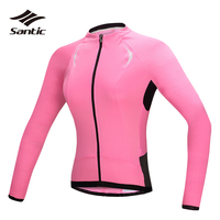 Santic Long Sleeve Cycling Jersey Women Anti UV Road Mountain Bike Jersey Breathable Bicycle T shirt Quick Dry Jersey
