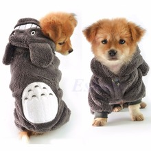 Warm Totoro Hoodie Costume Dog Clothes Pet Jacket Coat Puppy Cat Apparel Winter