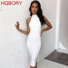 b72d399d65c64c XL białe paski Halter bez rękawów Sexy kobiety wiosna Autunm zima Birthday  Party 2018 Bodycon bandaża sukni dzianiny suknie
