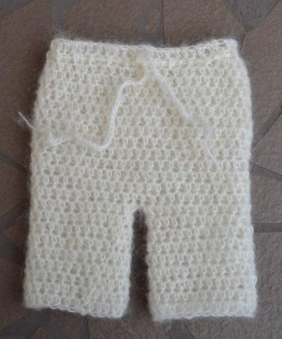 barnkläder sommar stil handgjorda mohair babybyxor blöja täcka - Babykläder