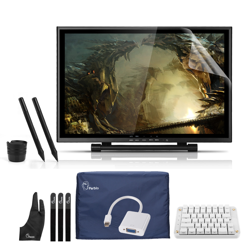 UG-1910B Professional Art Drawing Graphic Tablet Monitor 19 Inches With one-hand Mechanical Gaming Keyboard+ Two-Finger Glove professional ug 2150 ips hd tablet monitor parblo pr200w one hand mechanical gaming keyboard two finger glove screen protector