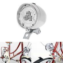 Bicicleta Retro Vintage 3LED faro delantero seguridad advertencia noche luz bicicleta Decoración