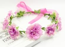2016 Elegant Floral Wreath Artificial Flower Head For Hair Wedding Garland Bridal Accessories Headpiece