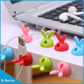 Free shipping 16pcs/lot Rabbit Colorful cable protector Cable holder Cable Organizer mouse wire holder