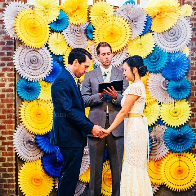 5 個 8 '20 センチメートルティッシュペーパーカットアウト紙ファン風車花のためのシャワーウェディングパーティー誕生祭