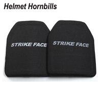 Helmet Hornbills 2pcs/Lot Alumina & PE NIJ Level III Bulletproof Panel/ Al2O3 Level 3 Ballistic Panel/Level 3 Plates