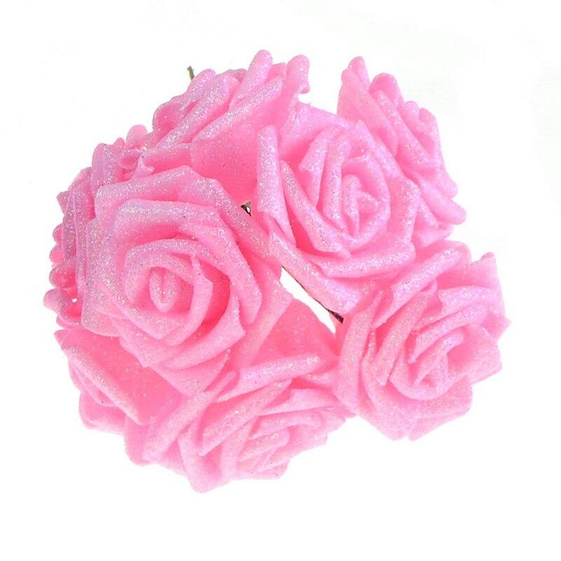 2 rooside stiili 18 värvi 8CM 6.5CM 10Pcs Kunstlikku roosi lilled - Pühad ja peod - Foto 4