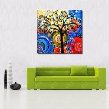 Lucky tree, oil painting 90cmx90cm