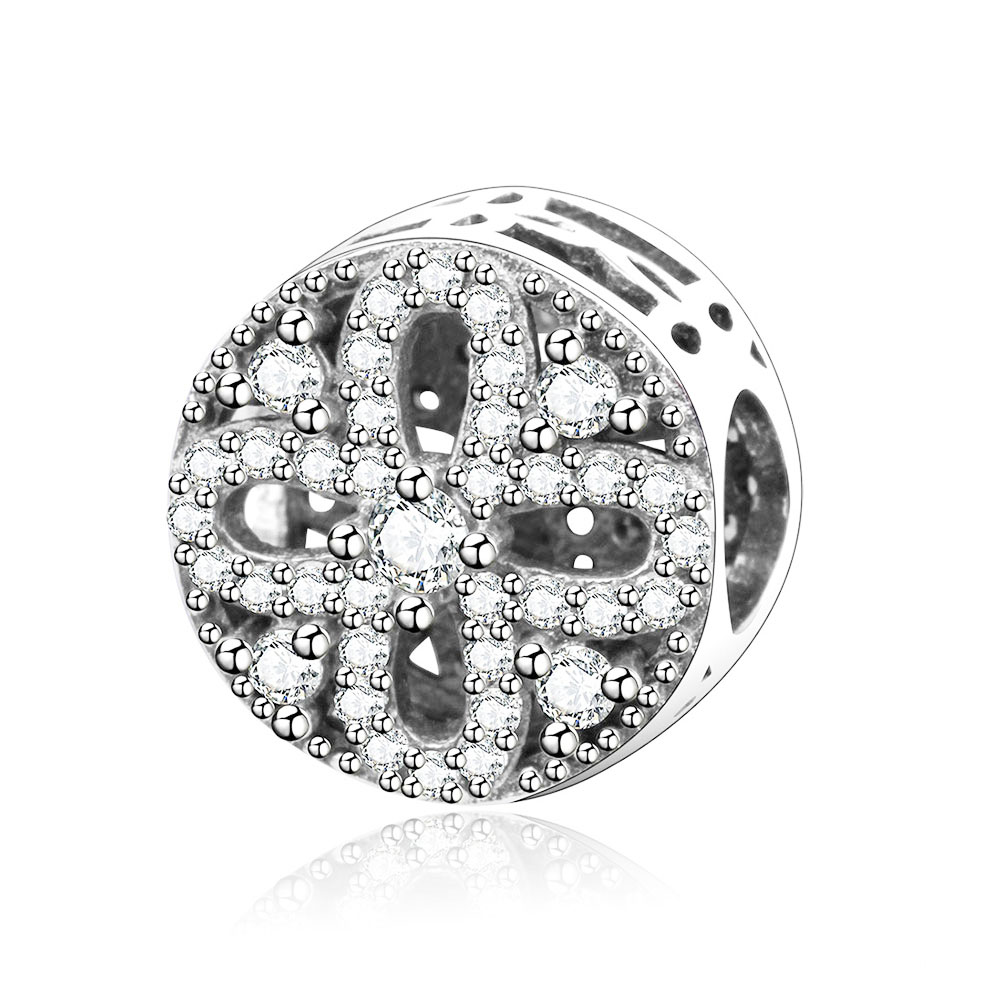 Fit Original Pandora Charms Bracelets 2017 New Summer Style Pure 925 Sterling Silver Charm Beads With Clear CZ DIY Jewelry