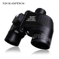 Boshile Military Binoculars 10X50 Rangefinder Compass Telescope Binocular Lll Night Vision HD Powerful Binoculars For Hunting