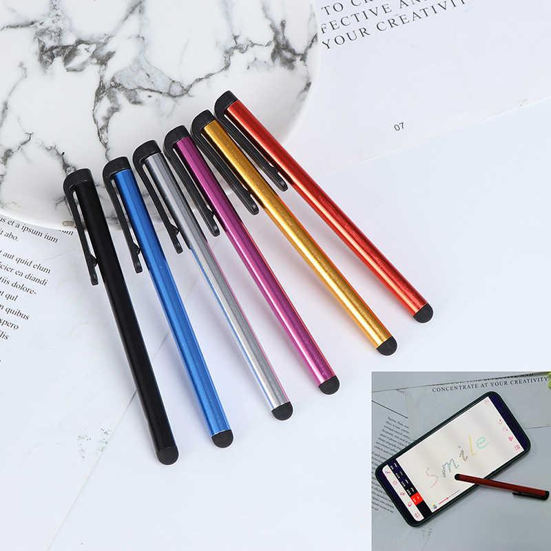 2 stks/partij Capacitieve Touchscreen Stylus Pen voor IPhone IPad IPod Touch Pak voor Andere Smart Phone Tablet Metalen Stylus potlood