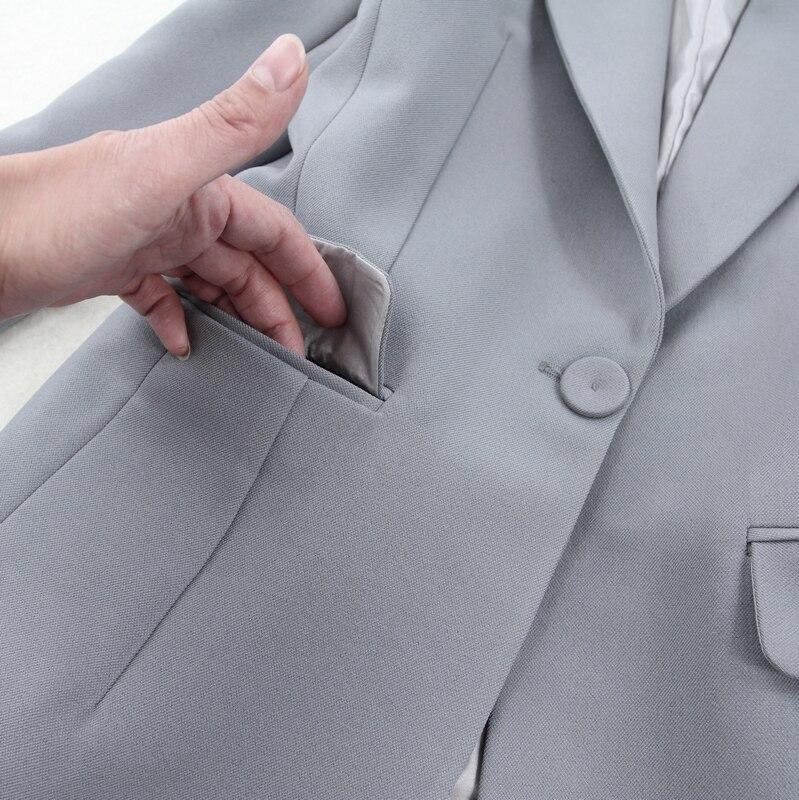 1 Coréenne Tweed Tenue Femmes Unie De Ensembles Pièces Mince Plus Deux Couleur Nouveau 2019 Taille Tempérament Version Costume Ensemble La 1fHdqfx