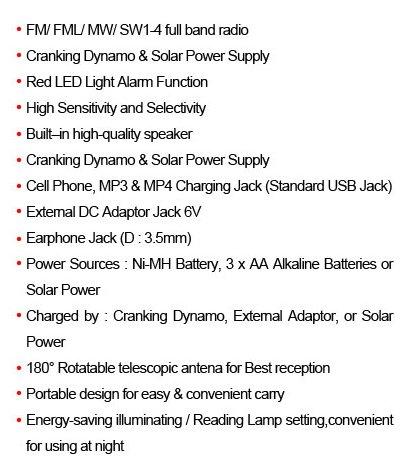 DEGEN DE16 FM/FML MW SW Crank Dynamo Solar Emergency Radio World Receiver A0901A eshow