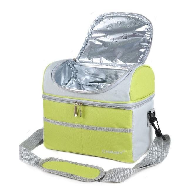 Defensor de Multi Mulheres Viajar Térmica Cooler Duplas Almoço Sacos de Piquenique Da Escola Dos Miúdos Bolsa Trabalho Oxford Almoço Saco de Chaleira