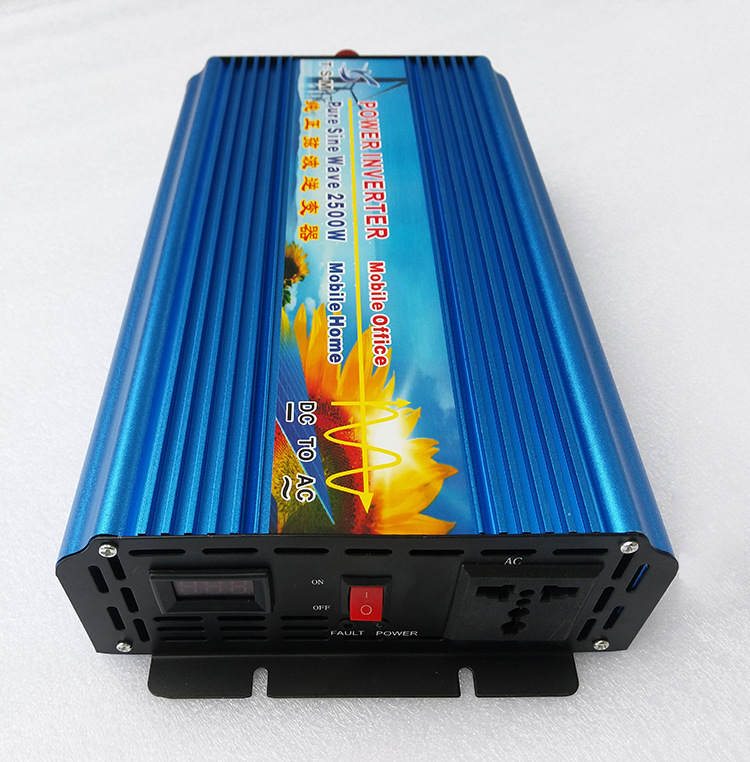 Off Grid Pure Sine Wave Solar Inverter 2500W 12V DC to 220V AC Car Power Inverter Converter 12V/24V to 120V/220V/240V boguang 110v 220v 300w mini solar inverter 12v dc output for olar panel cable outdoor rv marine car home camping off grid