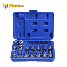 29PC Torx Star Sockets Set & Bit Male Female E T Chrome Vanadium Steel Ratchet Screwdriver for Mechanic Repair