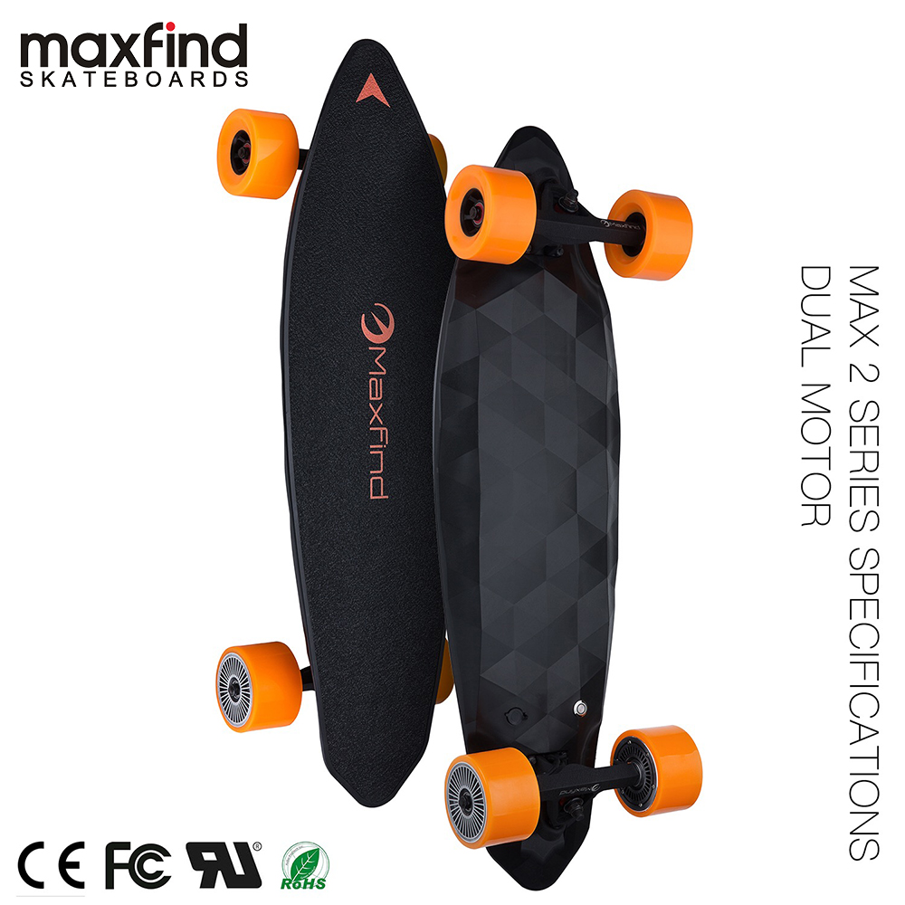 Electric Skateboard Max 2,1000W&2000W Motor Wireless Remote Controller With COOL 4 Wheel Electric Skateboard Hoverboard-in Skate Board from Sports & Entertainment