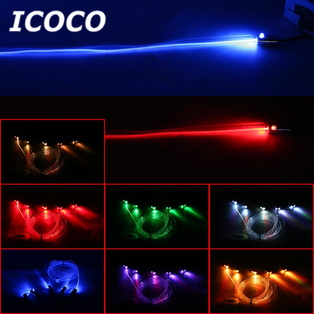 ICOCO Multicolor LED Light Car Interior Music Lighting Kit+RF Wireless Remote Control RGB Car Atmosphere LED Strip Light Decor ...