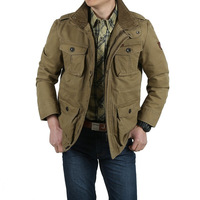 AFS JEEP 6XL 7XL 8XL Large Size Cotton Thicken Winter Jacket Men Parka Winter Casual Warm