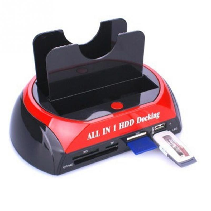 все цены на Desxz HDD Enclosure All in One Docking Station with Multi Card Reader Slot Dual IDE SATA Disk Cable онлайн