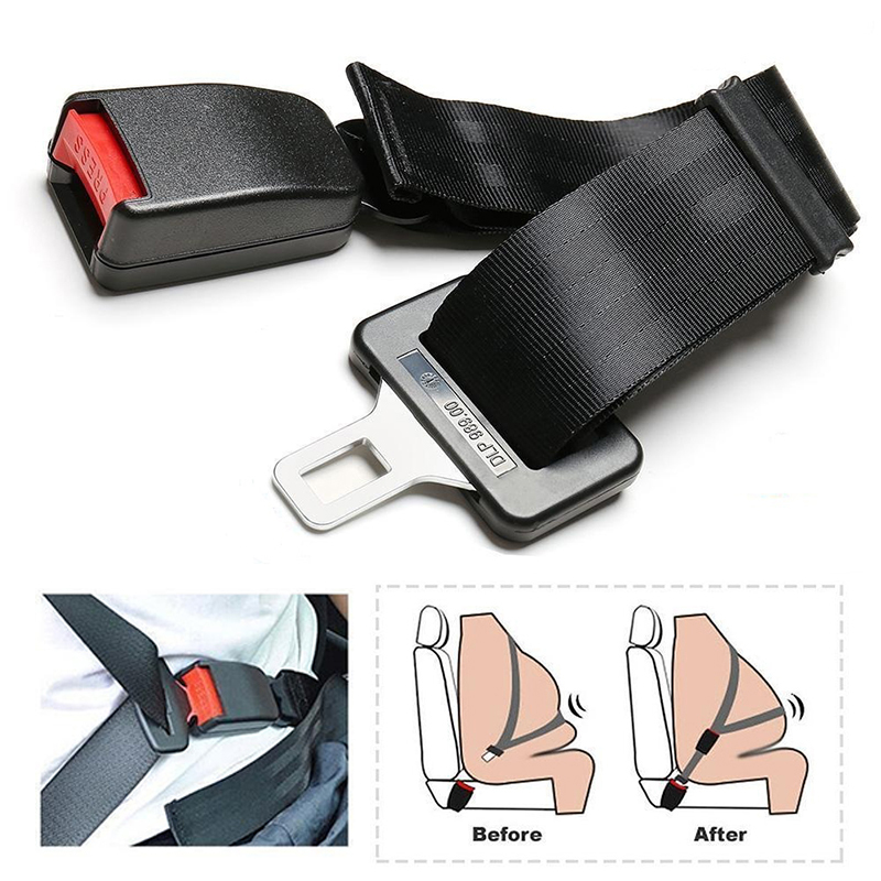 1PC Adjustable High Quality 25-80cm Auto Safety Seat Belt Car Seatbelt Universal Extender Buckle Accessories
