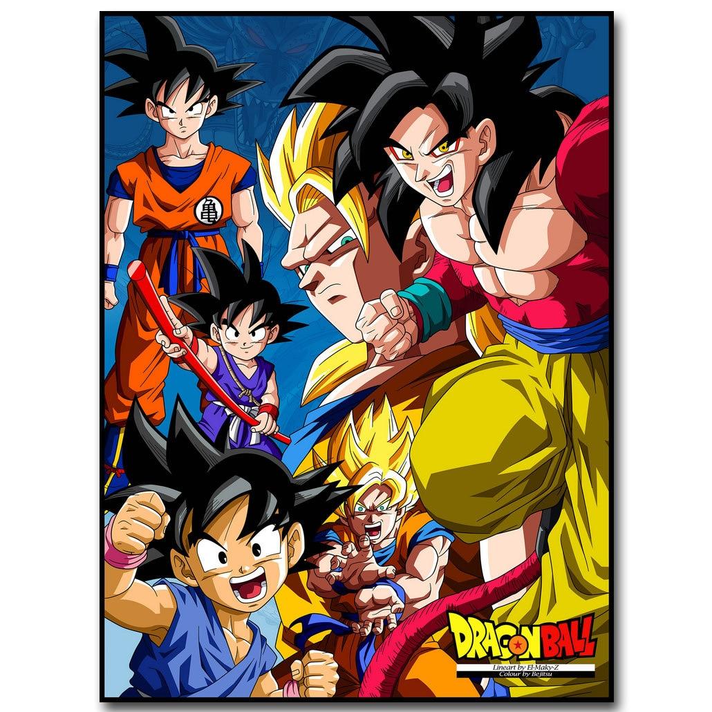 Stáhnout obrázek Dragon Ball Z Art Silk Fabric 13x18 24x32inch Japanese Anime Goku - Obrázkek zdarma pro Living Room Wall Decor Gift 032